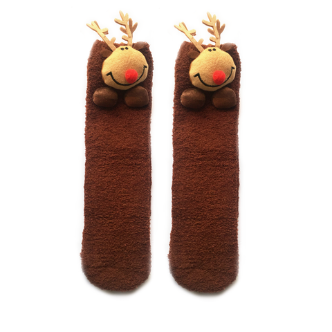 Cozy Rudolph the Reindeer Socks