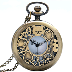 Rilakkuma Vintage Pocket Watch Necklace