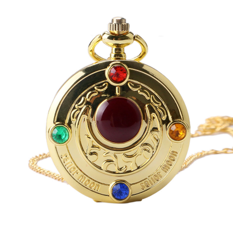 Sailor Moon Crystal Moon Power Pocket Watch Necklace