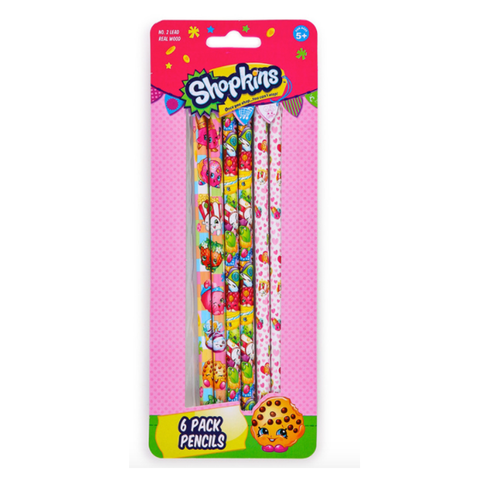 shopkins pencil set