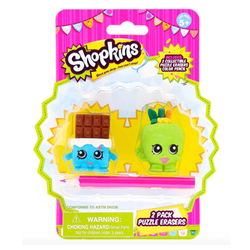 Shopkins 2 Pack Puzzle Erasers
