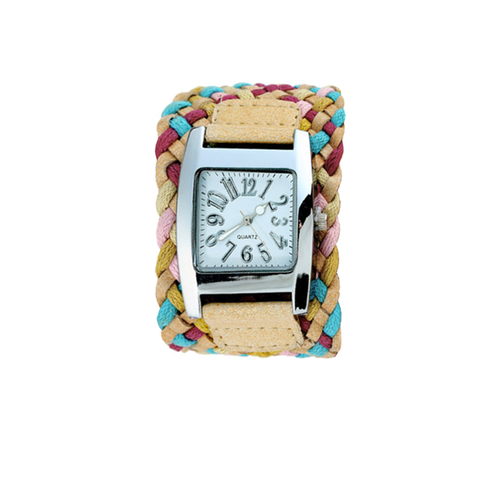 Square Watch with Braided Strap