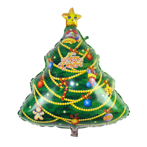 Christmas Tree Mylar Balloon