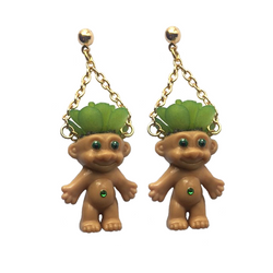 vintage trolls earrings