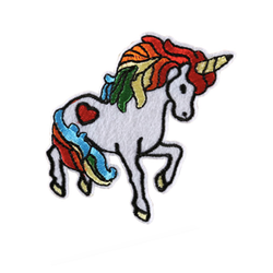 unicorn embroidery patch