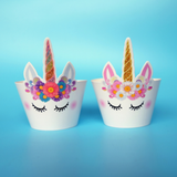 Unicorn World Cupcake Wrappers- Set of 12