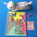 Unicorn Plush Pencil Case
