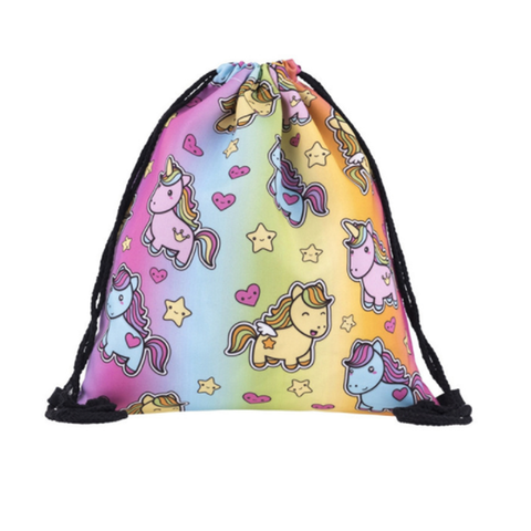 Unicorn World Drawstring Backpack
