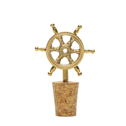 Ship Steering Wheel Wine Stopper