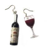 Wine Mismatch Earrings