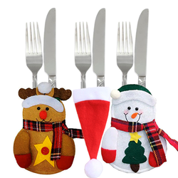 Christmas Flatware Pouch Set -3 Pcs