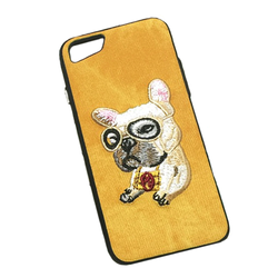 Embroidery Puppy Phone case for iPhone X