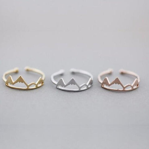 Snow Mountain Open Cuff Rings