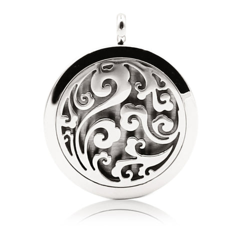 Silver - Mystic Breeze Aromatherapy Locket Necklace: 4 Colors