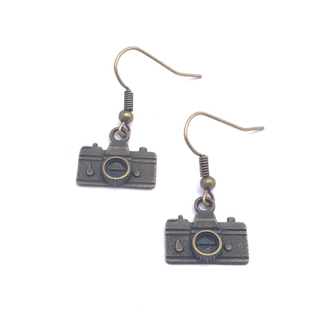 Earrings - Punk Retro Camera Earrings