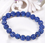 Bracelets - Beaded Crystal Shamballa Bracelets: Colors For All Occassions Sapphire Blue