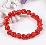 Bracelets - Beaded Crystal Shamballa Bracelets: Colors For All Occassions Red