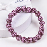 Bracelets - Beaded Crystal Shamballa Bracelets: Colors For All Occassions Light Purple