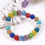 Bracelets - Beaded Crystal Shamballa Bracelets: Colors For All Occassions Colorful