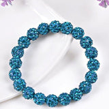 Bracelets - Beaded Crystal Shamballa Bracelets: Colors For All Occassions Lake Blue