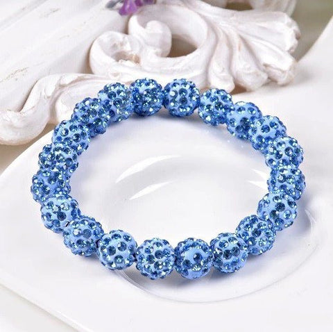 Bracelets - Beaded Crystal Shamballa Bracelets: Colors For All Occassions Blue