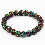 Bracelets - Beaded Crystal Shamballa Bracelets: Colors For All Occassions Black Colorful