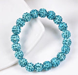 Bracelets - Beaded Crystal Shamballa Bracelets: Colors For All Occassions Peacok Blue