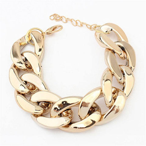 Bracelets - Big Chain Bracelet Gold