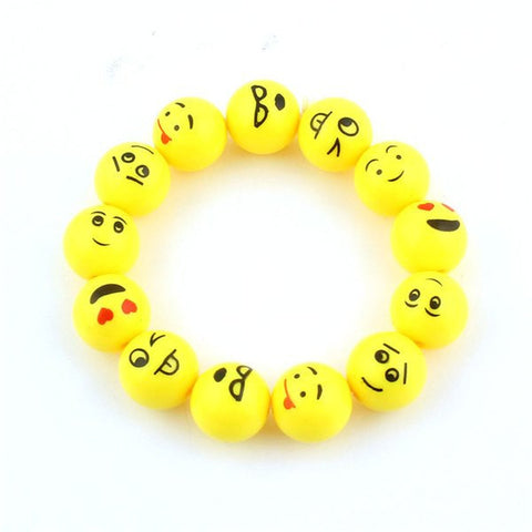 Bracelets - Stretchy Emoji Beaded Bracelet