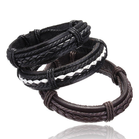 Bracelets - Various Braided Leather Bracelets