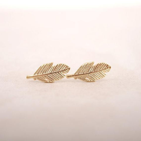 "Earrings - Women's Vintage ""Fallen Leaves"" Stud Earrings"