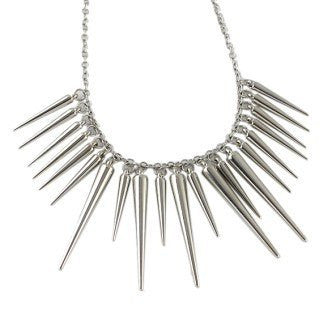 Necklaces - Bold And Spikey Pendant Necklace Silver