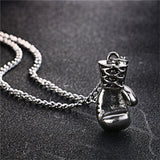 Necklaces - Mini Boxing Glove Necklace Silver