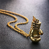 Necklaces - Mini Boxing Glove Necklace Gold