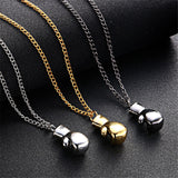 Necklaces - Mini Boxing Glove Necklace: Gold, Silver Or Black