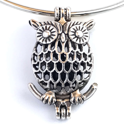 Bracelets - Owl Locket Aromatherapy Oil Diffusing Bangle