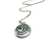 """Moola Mantra"" Locket Necklace with Essential Oil Diffuser Green"