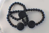 Black Lava Beaded Essential Oil Diffuser Bracelet
