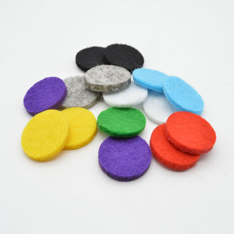100pcs Colorful Felt Pads for 30mm Diffuser Lockets