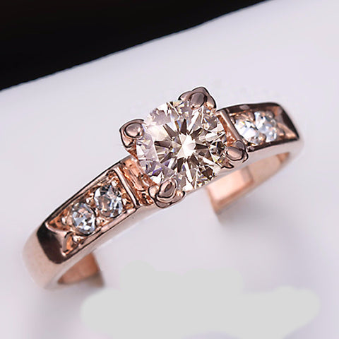 Classical Cubic Zirconia Forever Rings: Rose Gold or Platinum Plated