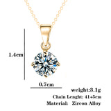Necklaces - Ladies Elegant Crystal Zircon Pendant Necklace