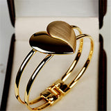 Elegant Double Heart Bangle