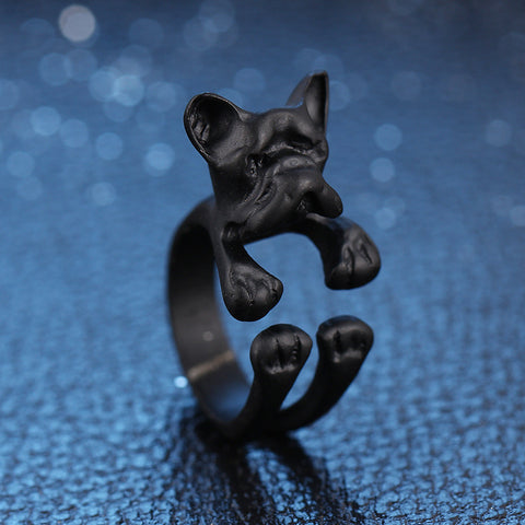 Rings - Bulldog Ring: 3 Colors Black