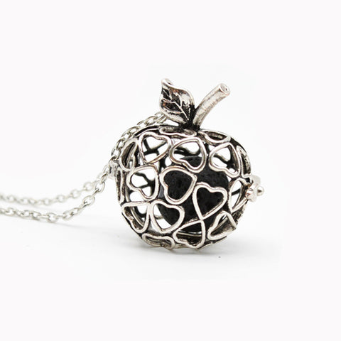 Heart Filled Apple: Aromatherapy Necklace