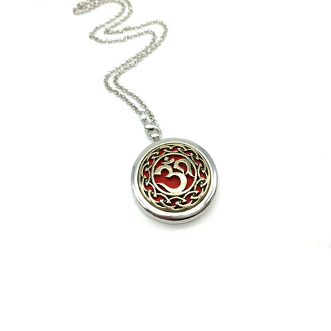 """Aum Om"" Essential Oil Diffuser Locket Necklace"