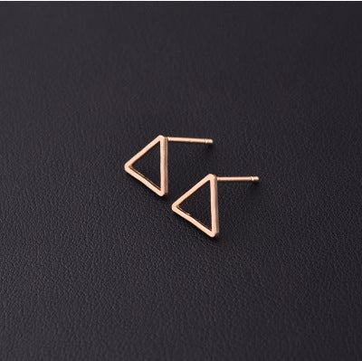 Triangle Gold - Geometric Stud Earrings with Various Designs