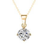Ladies Elegant Crystal Zircon Pendant Necklace Gold