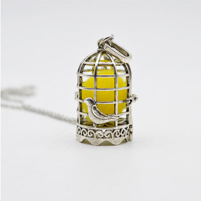 "Essential Oil Diffusing Necklace: ""The Birdcage"""