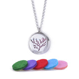 Cherry Blossom Aromatherapy Women's Necklace With 5 Refill Pads