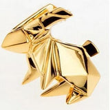 Solid Geometric Metal Animal Brooch Pins